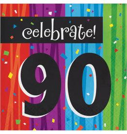 creative converting 90th Milestone Celebration Lun. Napkins - 16ct.
