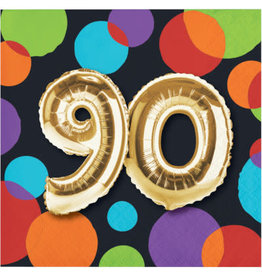 creative converting 90th Balloon Birthday Bev. Napkins - 16ct.
