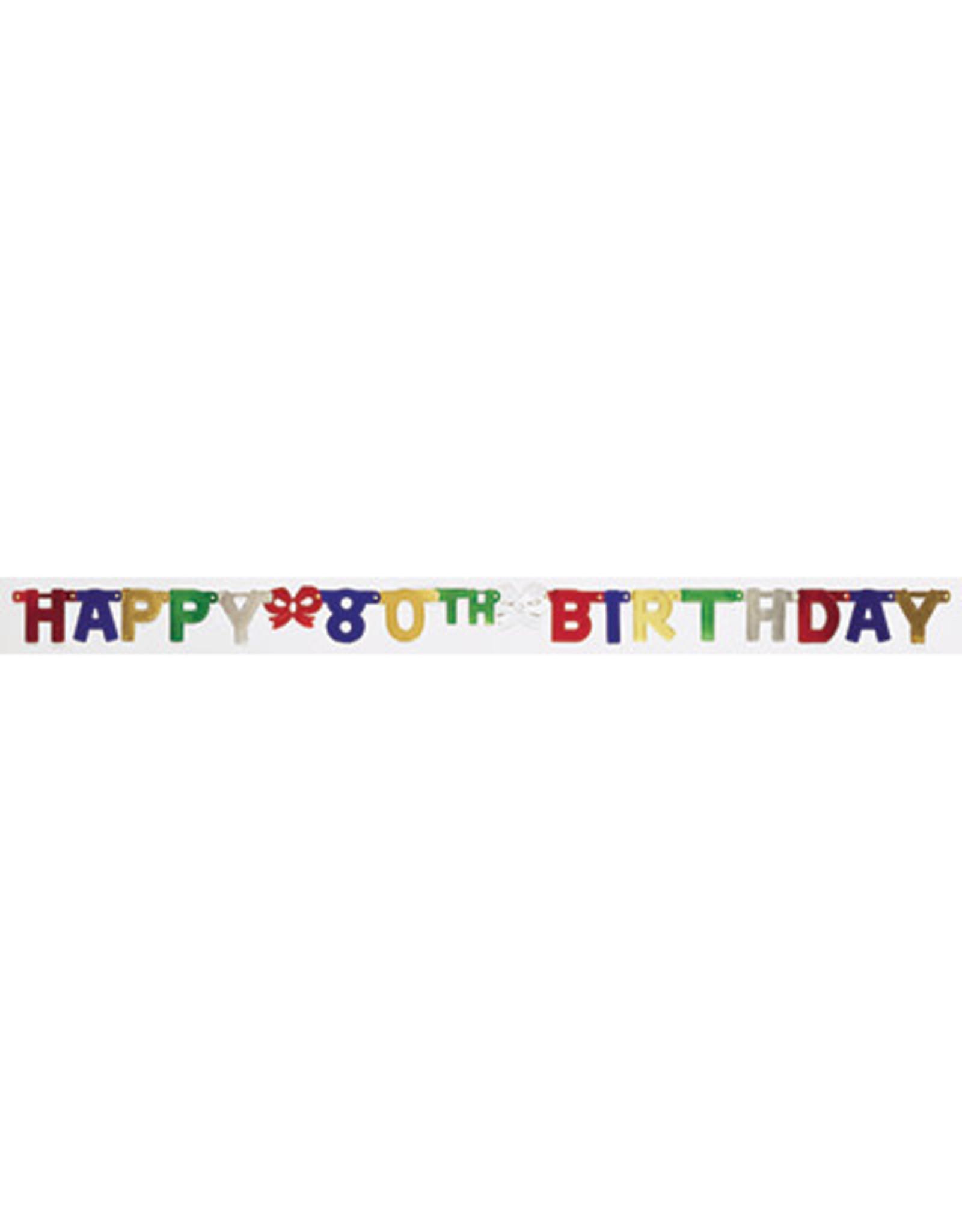 creative converting 80th Happy Birthday Banner - 6.5ct.