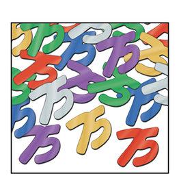 Beistle 75th Multi-Color Confetti - 0.5oz