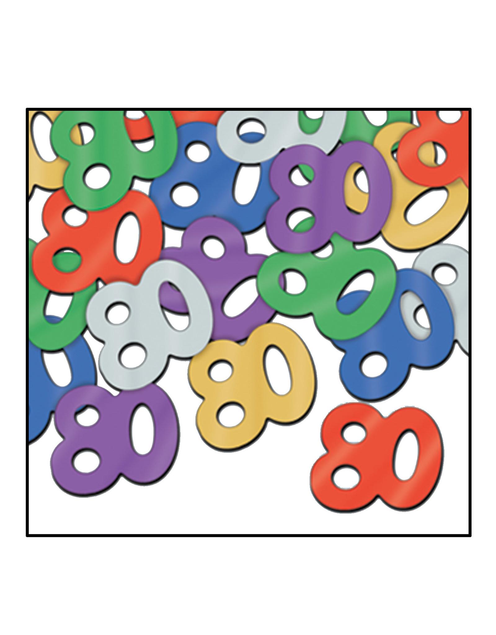 Beistle 80th Multi-Color Confetti - 0.5oz