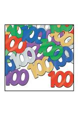 Beistle 100th Multi-Color Confetti - 0.5oz