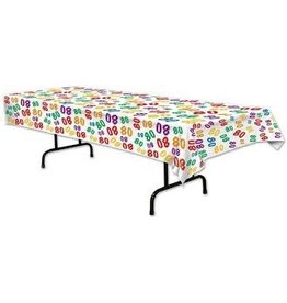 Beistle 80th Birthday Tablecover