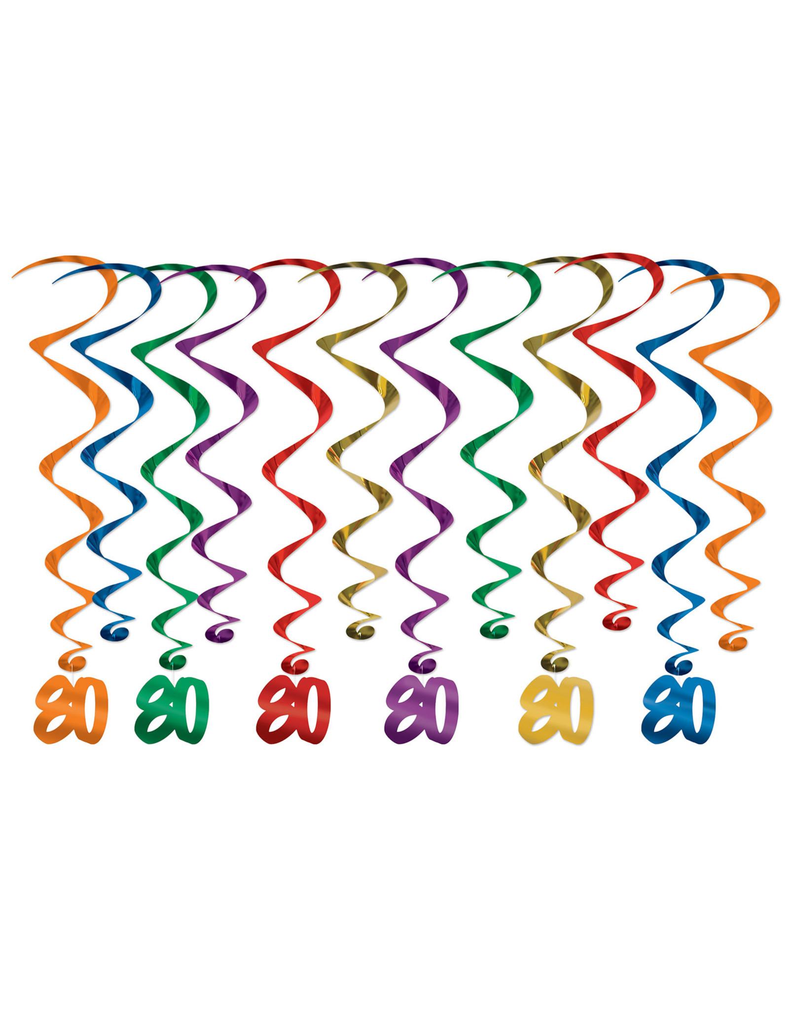 Beistle 80th Birthday Whirls - 12ct.