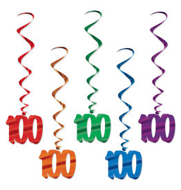 Beistle 100th Birthday Whirls - 5ct.