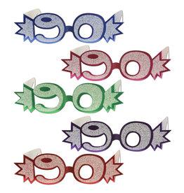 Beistle 90  Glittered Foil Eyeglasses - 1ct.