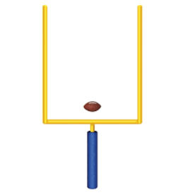 Beistle Jointed Goal Post w/ Football