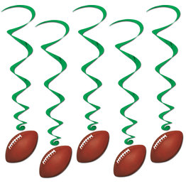 Beistle Football Whirls - 12ct.