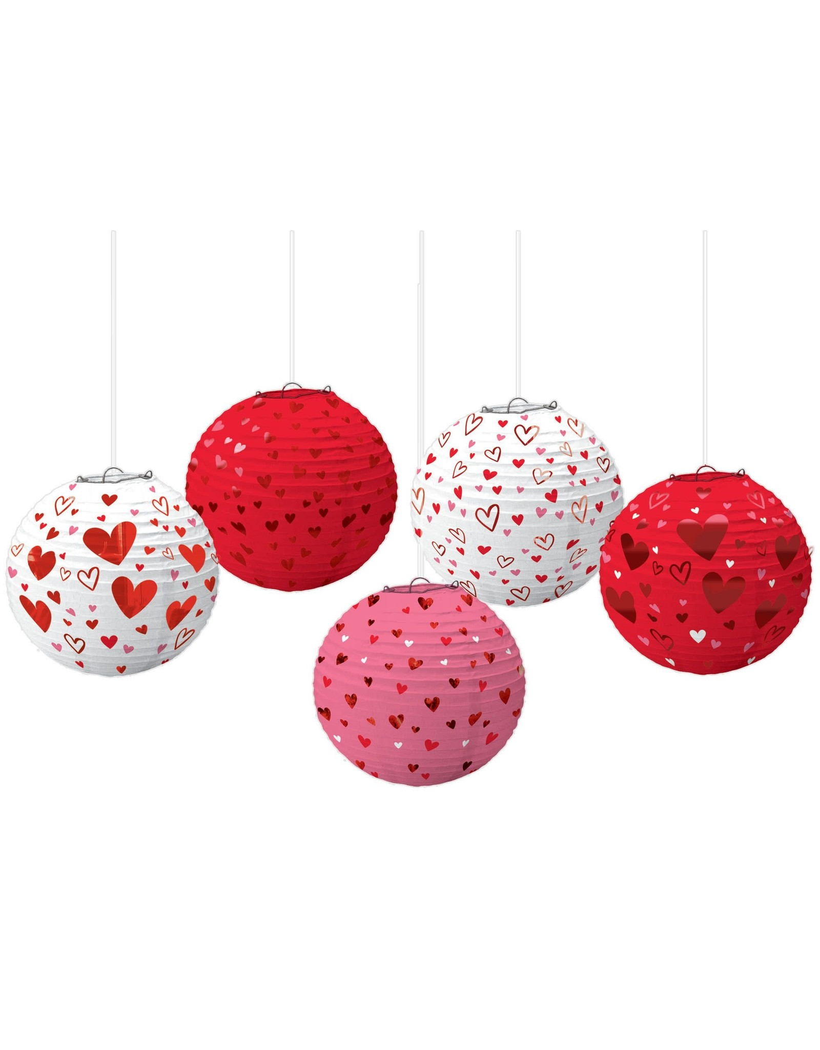 Amscan Heart Mini Lanterns - 5ct.