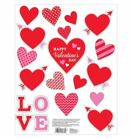 Amscan Valentines Day Window Clings - 20ct.
