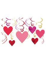 Amscan Heart Shaped Swirls - 12ct.