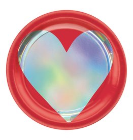 "Amscan Heart Day 7"" Plate - 8ct."