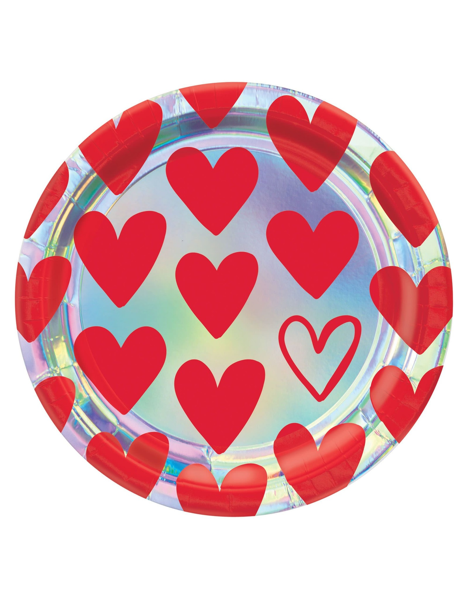 """Amscan Heart Day 9"""" Plate - 8ct."""