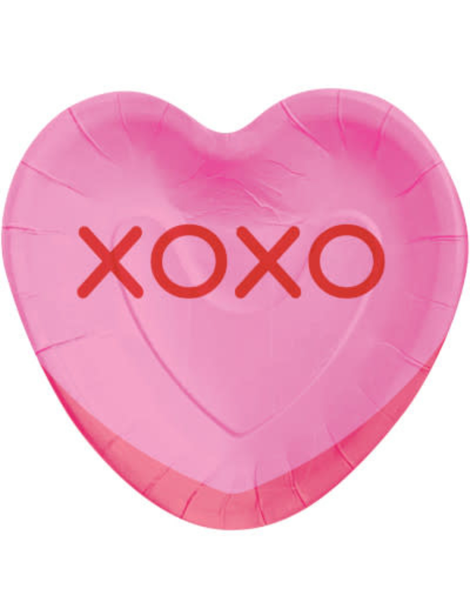 creative converting Candy Heart Shaped Plates - 8ct.
