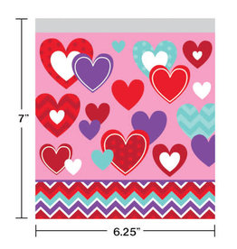 creative converting Hearts Zippered Treat Bags - 10ct.