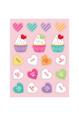creative converting Candy Hearts Stickers - 4ct.