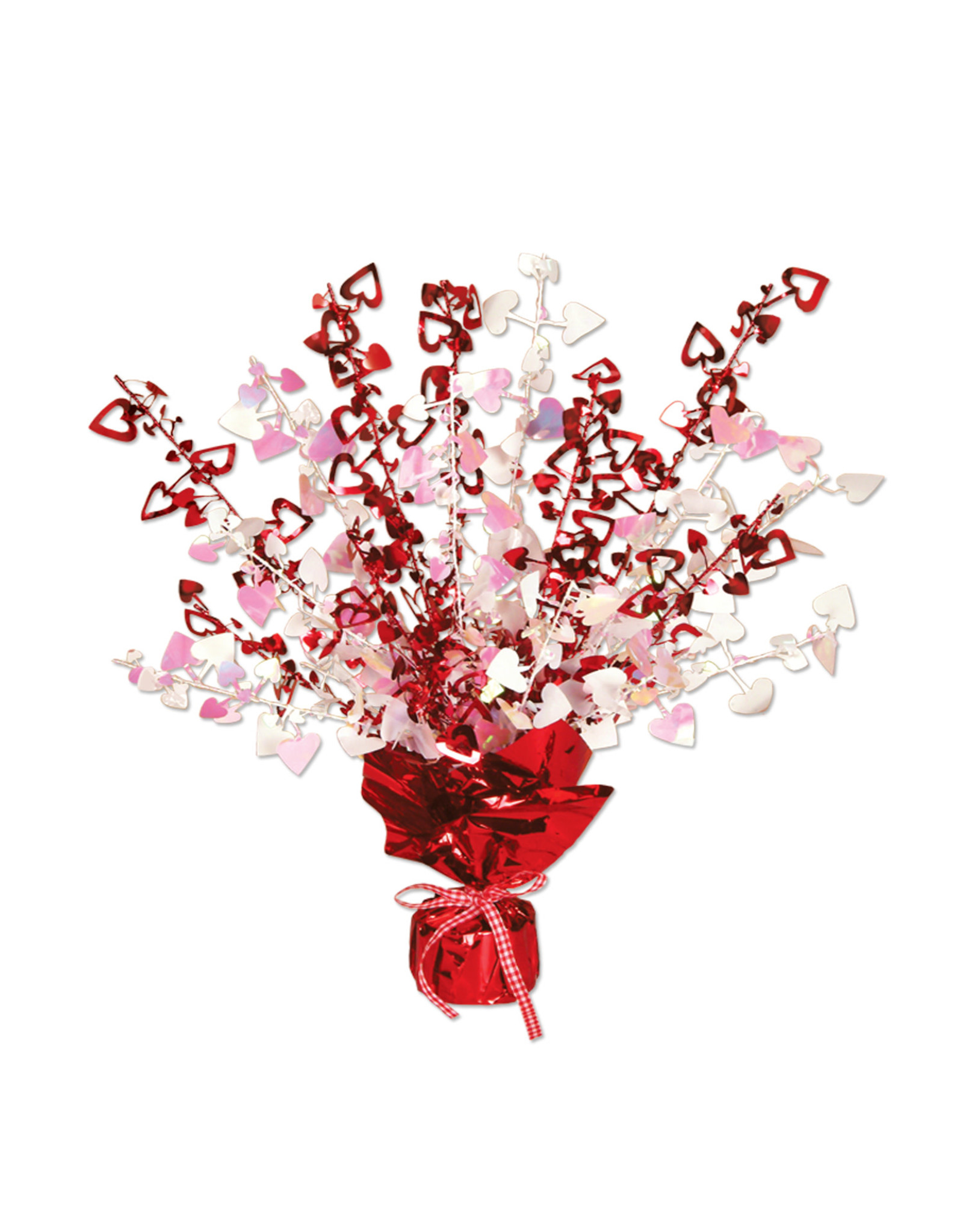Beistle Heart Gleam 'N Burst Centerpiece