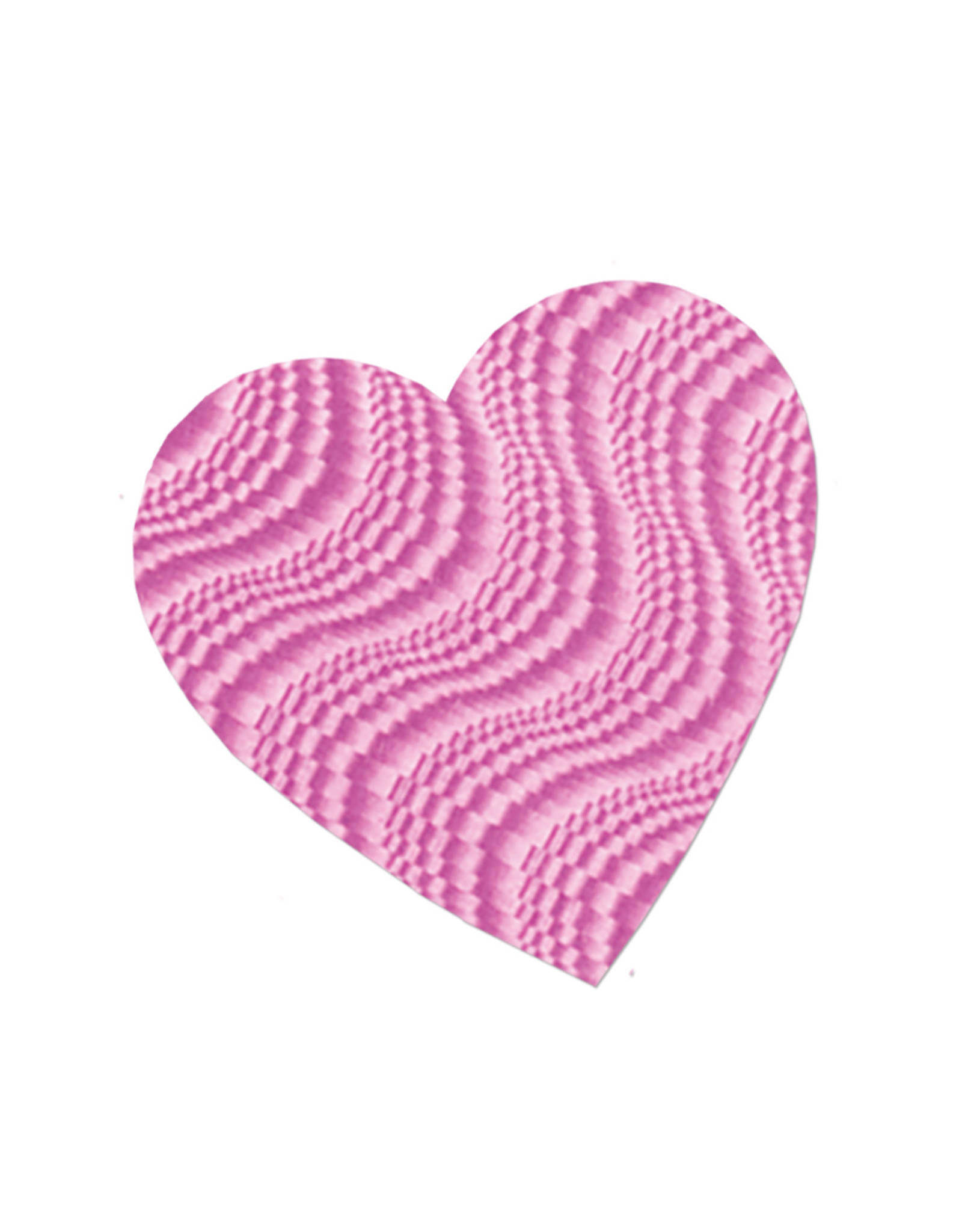 "Beistle 4"" Embossed Pink Heart - 1ct."