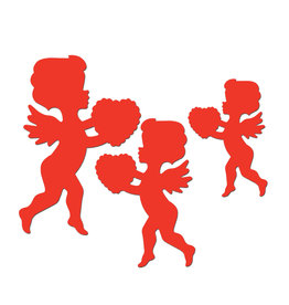 Beistle Red Cupid Cutouts - 6ct.