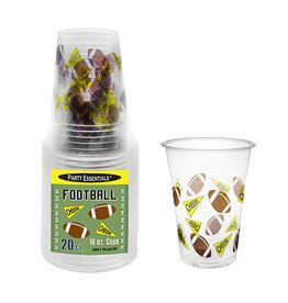northwest 16oz Football Party Cups - 20ct