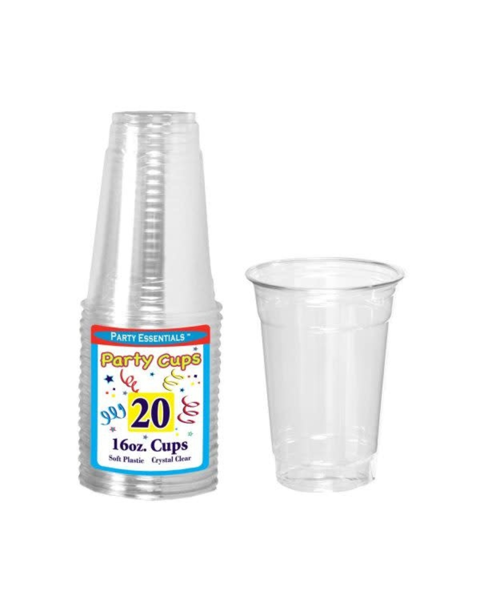 northwest 16 oz. Clear Party Cups - 20 Ct.