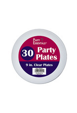 """northwest 9"""" Clear Party Plate - 30ct."""