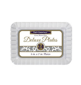 """northwest Clear 5"""" x 7"""" Rectangle Appetizer Plates - 24ct."""