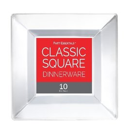 """northwest 8"""" Clear Square Plates - 10ct"""