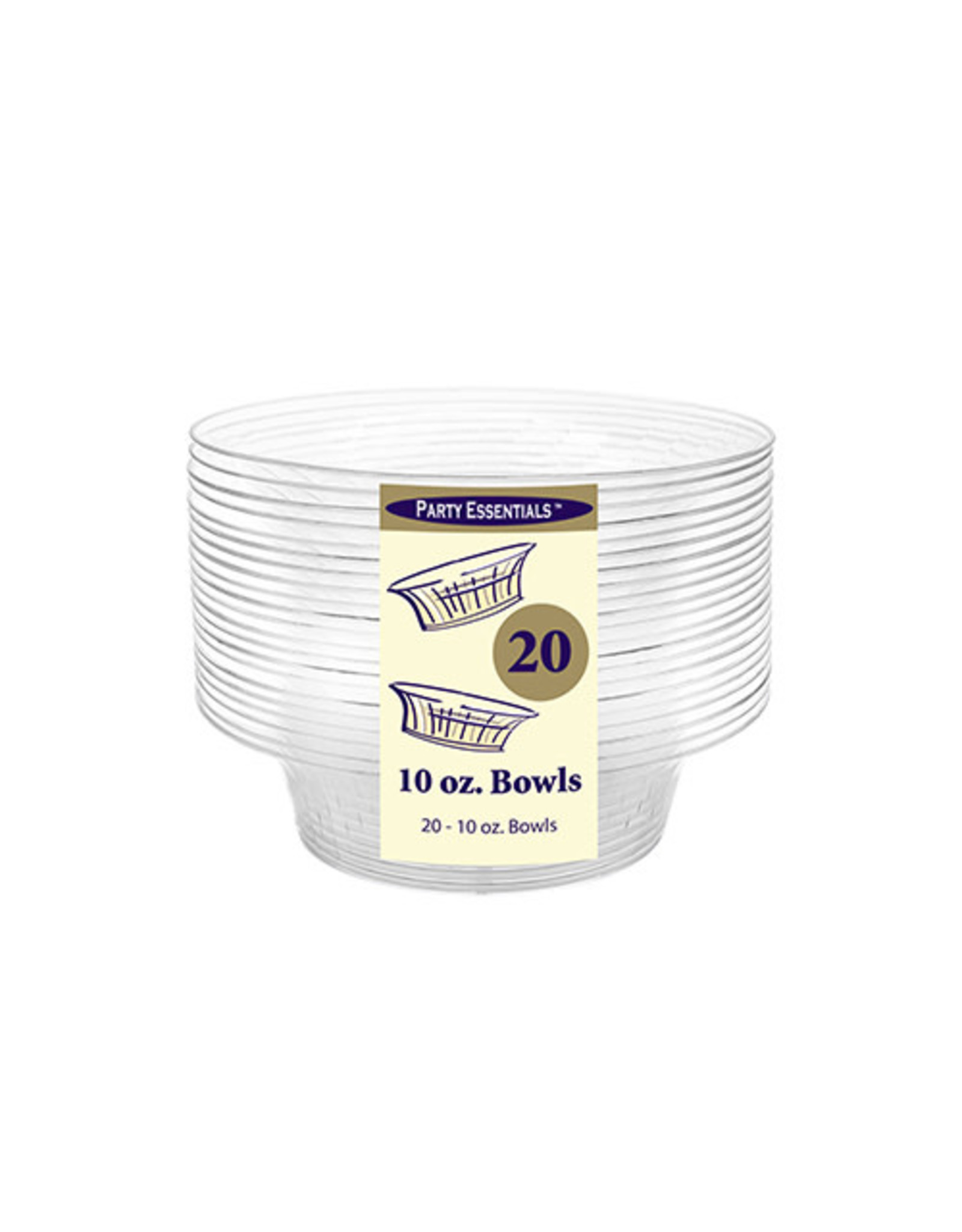 northwest 10oz. Clear Deluxe Bowls - 20ct.