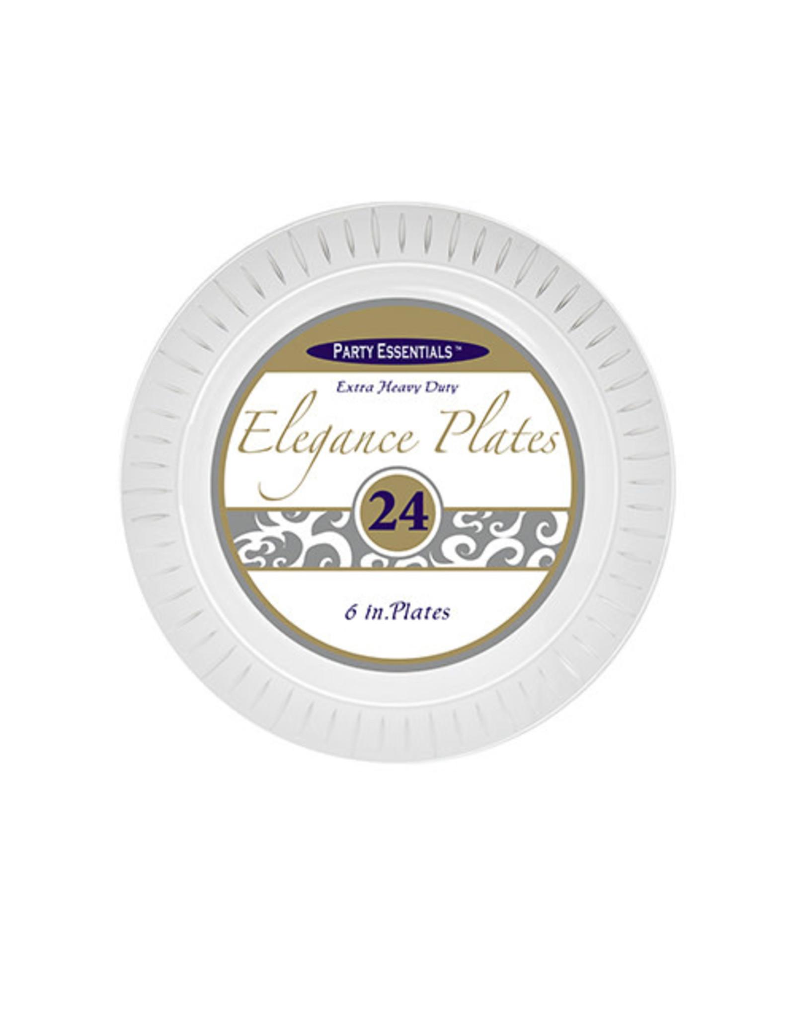 "northwest 6"" Clear Elegance Plates - 24 Ct."