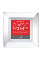 northwest 10.75in. Clear Square Dinner Plates -10ct