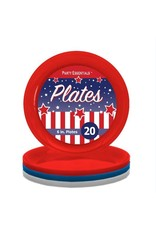 """northwest 6"""" Red, White, Blue Party Plates - 20ct."""