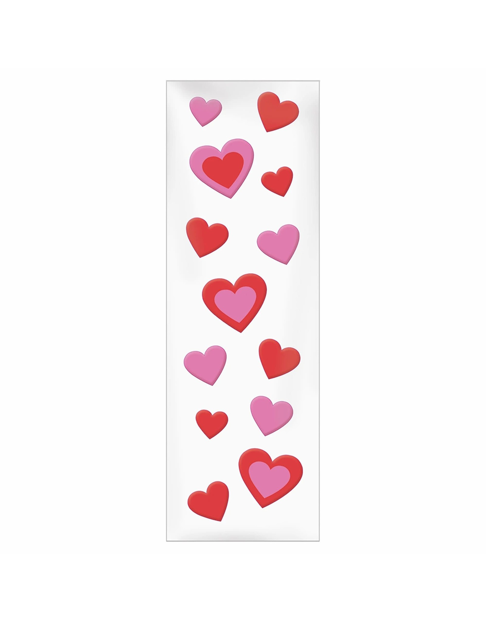 Amscan Gel Cling Valentines Hearts