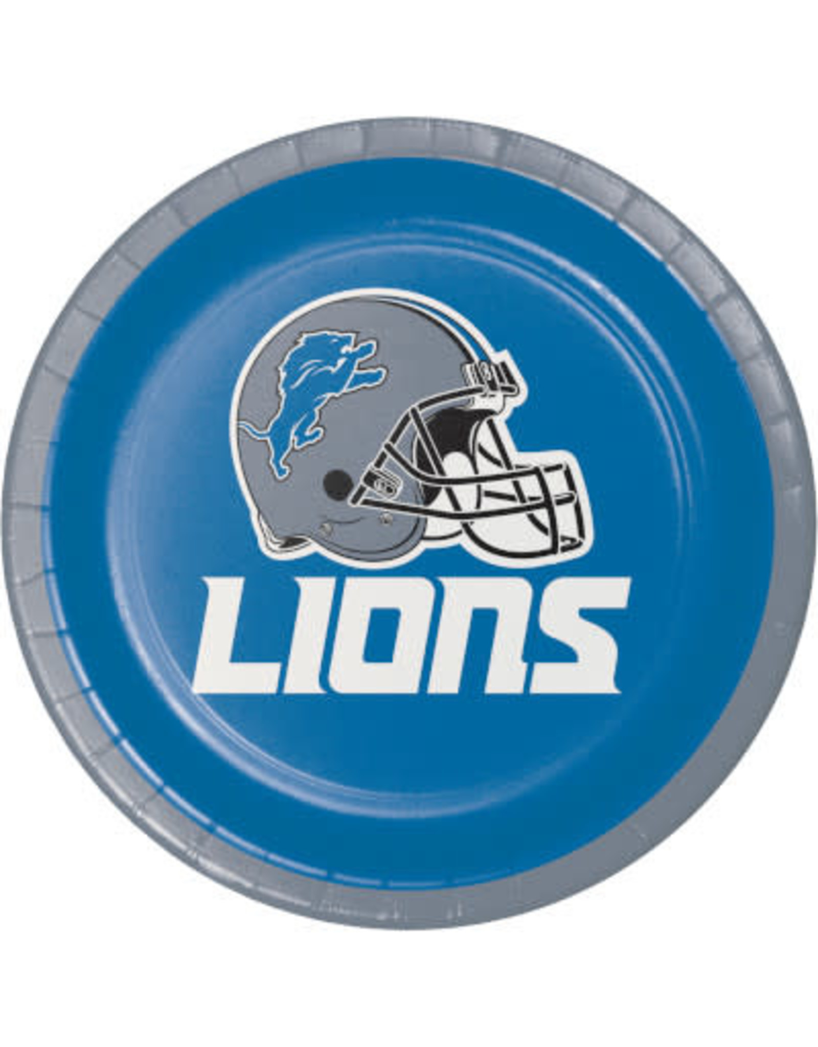 "creative converting Detroit Lions 7"" Lunch Plates - 8ct."