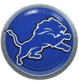 """Amscan Detroit Lions 9"""" Plate - 8ct."""