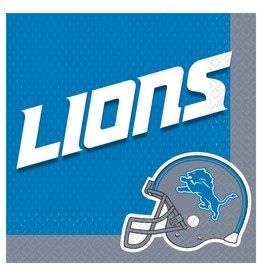 Amscan Detroit Lions Lunch Napkins - 16ct.