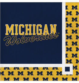 COLLG U of M Beverage Napkins - 16ct.