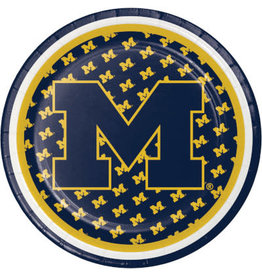"COLLG U of M 7"" Plates - 8ct."
