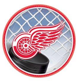 "DesignWare Detroit Red Wings 7"" Plate - 8ct."