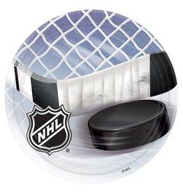 "Amscan NHL Hockey 7"" Plates - 8ct."