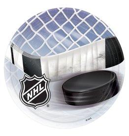"Amscan NHL Hockey 9"" Plates - 8ct."