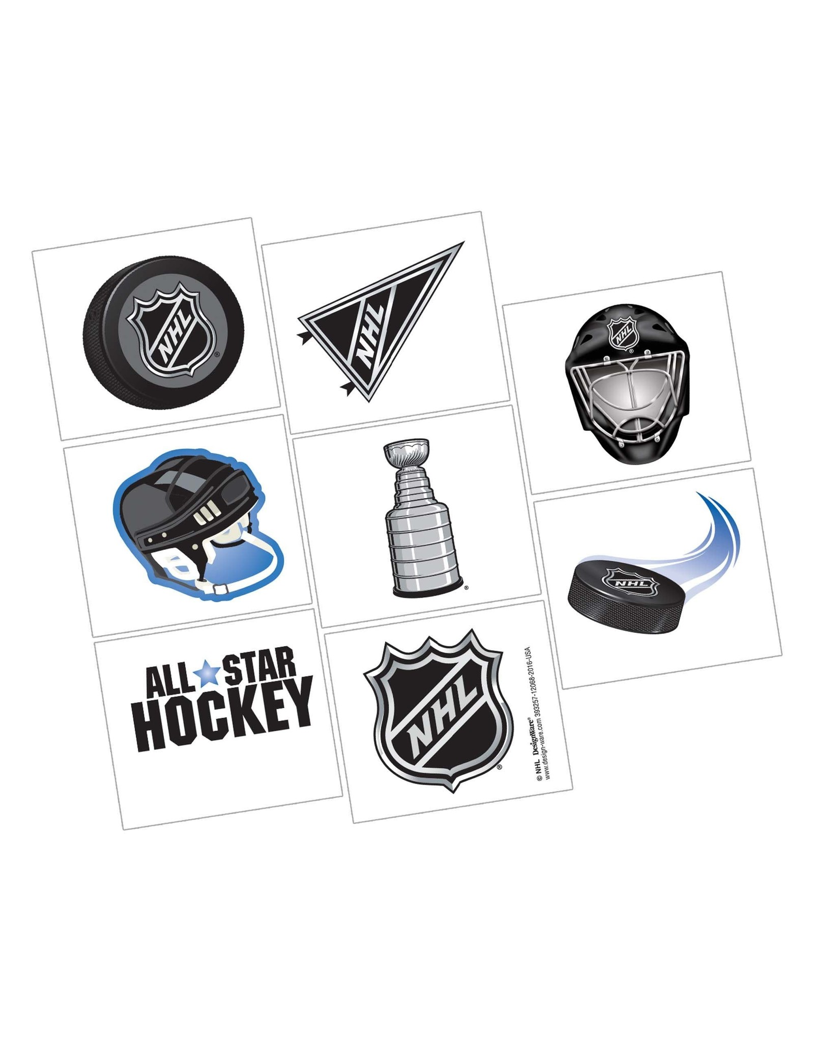 Amscan NHL Hockey Tattoos - 16ct.