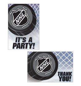 Amscan NHL Hockey Inv. & TY Set - 8ct.