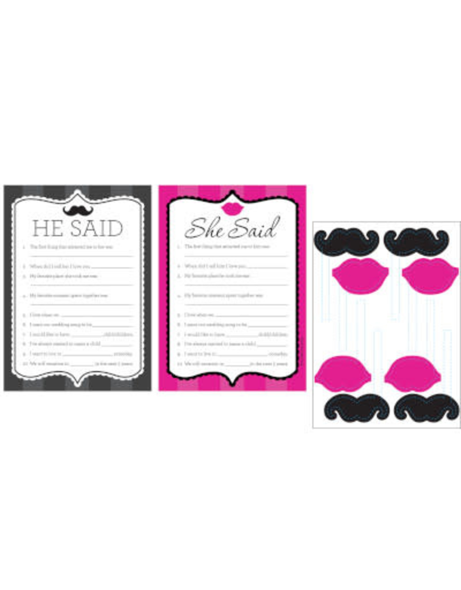 creative converting Bachelorette Party Game w/ Props - 8ct.