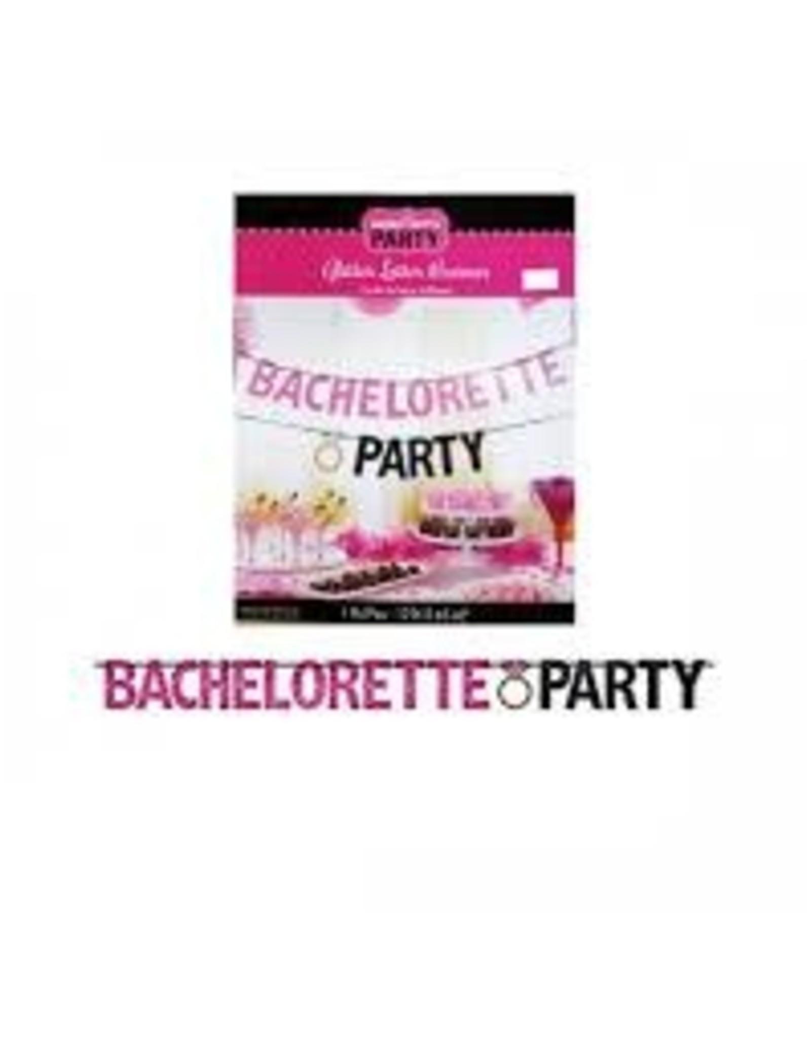 Amscan Bachelorette Glitter Banner - 12ft.