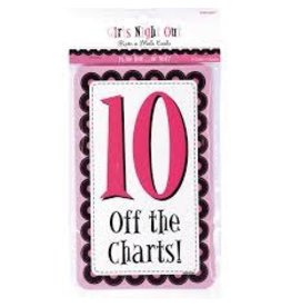 Amscan Girls Night Out Rating Cards - 10ct.