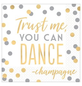 Amscan Trust Me You Can Dance Lun. Napkins - 16ct.