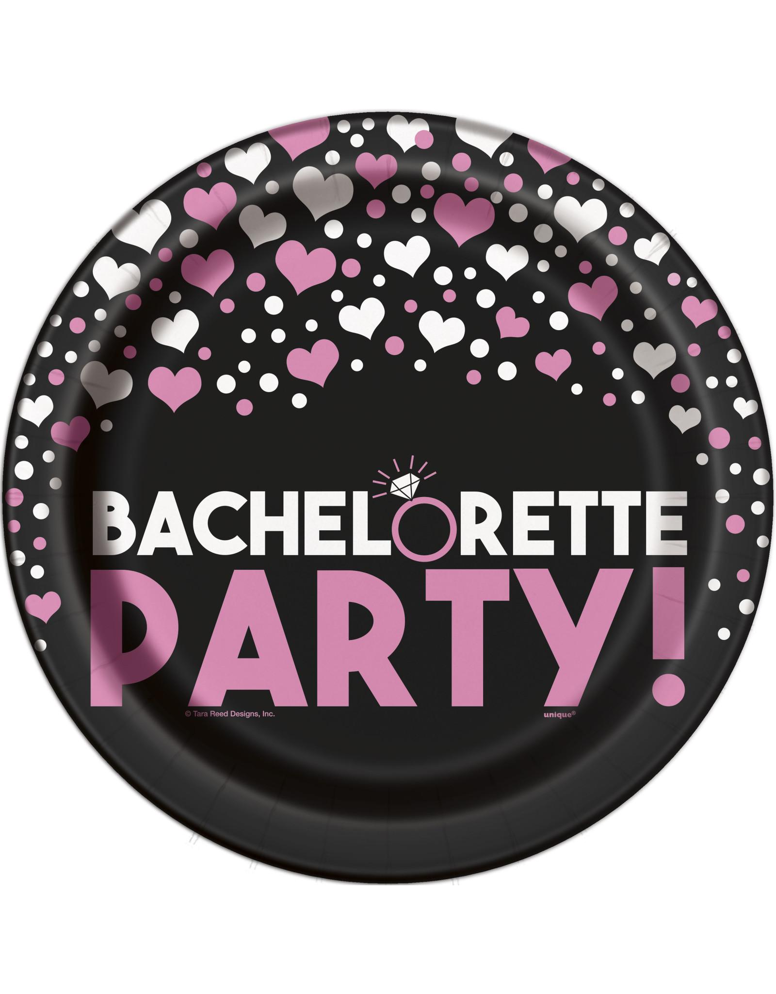 """unique Bachelorette Party 9"""" Plate - 8ct."""