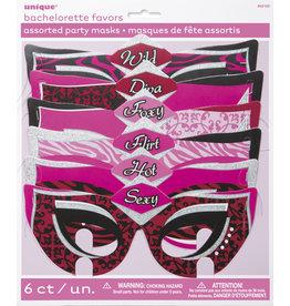 unique Bachelorette Party Masks - 6ct.