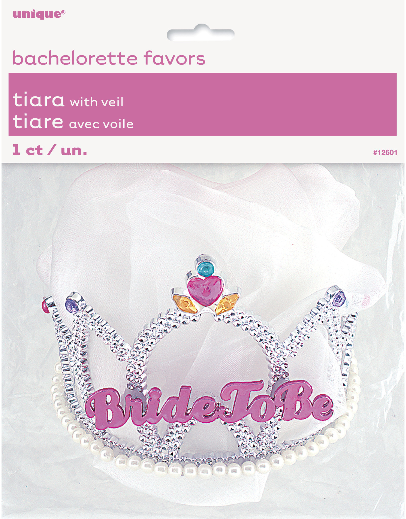 unique Bride To Be Tiara w/ Veil